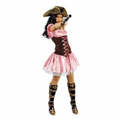Roze korte piratenjurk