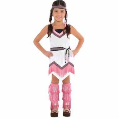 Roze met wit indianen kostuum voor meiden