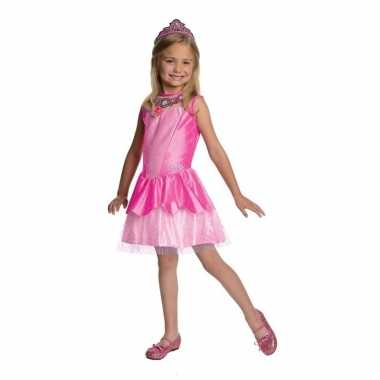 Roze prinsessen jurkje met tiara