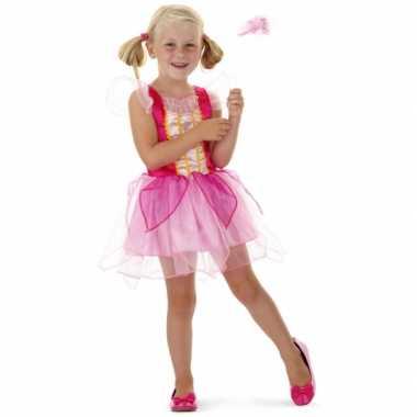 Roze prinsessen outfit met toverstaf