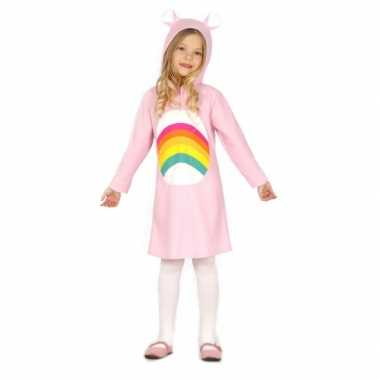 Roze regenboog jurkje voor meisjes