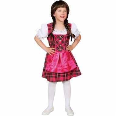 Roze tirol jurk voor meisjes