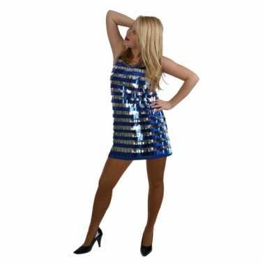 Sexy blauw jurkje met pailletten 10046793