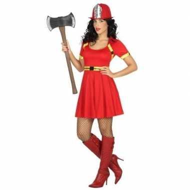 Sexy brandweer kostuum/jurkje voor dames