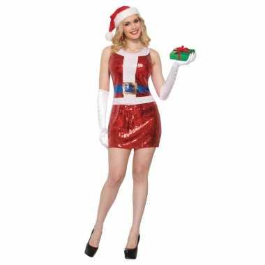 Sexy kerst jurkje met glitter pailletten voor dames