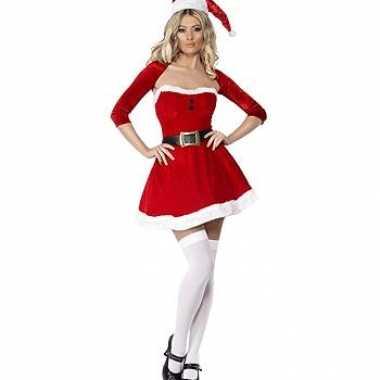 Sexy kerst jurkje met losse mouwen