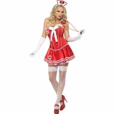 Sexy zuster kostuum rood