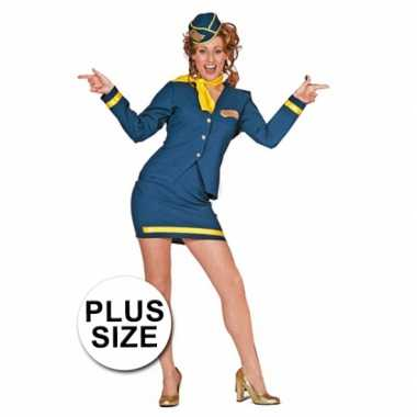 Stewardess uniform grote maat