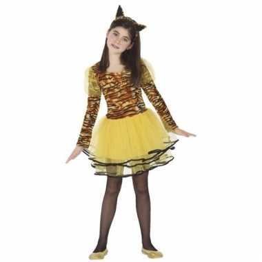 Tijgerin cara verkleedjurk voor meisjes