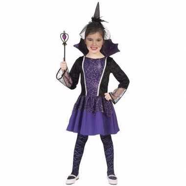 Verkleed jurkje vampier paars voor meisjes