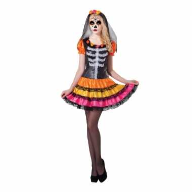 Verkleed skelet jurkje rosita voor dames