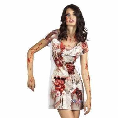 Verkleed zombiebruid jurkje