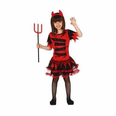 Verkleedkleding duivel jurkje voor meisjes