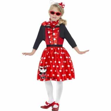 Verkleedkleding hello kitty rood