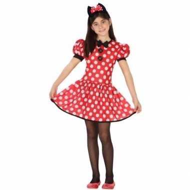 Verkleedkleding muizen meisje rood