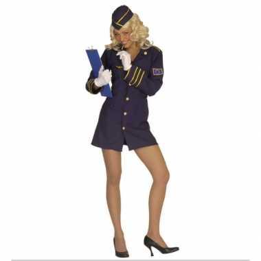 Verkleedkleding stewardess pakje dames