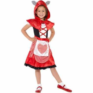 Verkleedkostuum roodkapje voor meiden