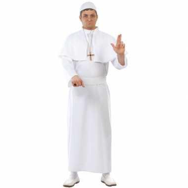 Vierdelig paus kostuum wit