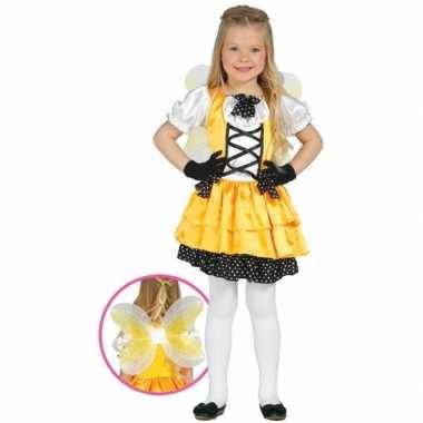 Vlinderjurk voor meisjes geel
