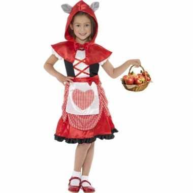 Voordelig roodkapje jurkje voor meisjes