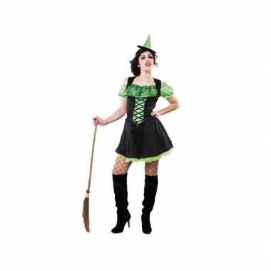Voordelige groene heksen jurk voor dames