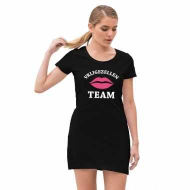 Vrijgezellenteam jurkje zwart voor meiden