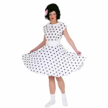 Wit jurkje met zwarte stippen