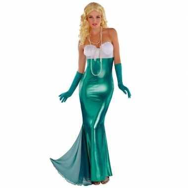 Zeemeerminnen jurk thema feest kleding carnaval voor dames