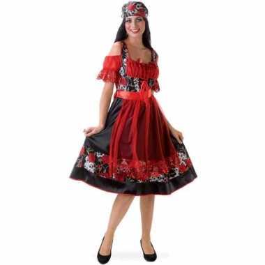 Zigeuner jurkje met doodshoofden