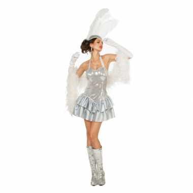 Zilver halter jurkje voor dames