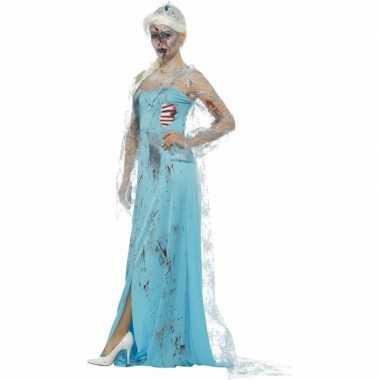Zombie ijsprinses elsa kostuum voor dames