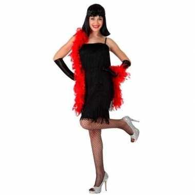 Zwart flapper jurkje jaren 20/1920s voor dames