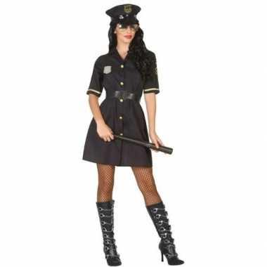 Zwart politie jurkje voor dames