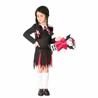 Zwart schoolmeisje jurkje voor meisjes
