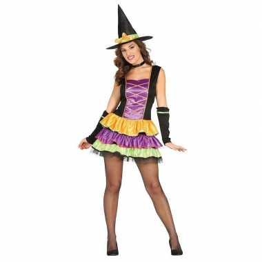 Zwarte heksen jurk voor dames