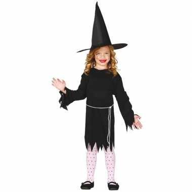 Zwarte heksen jurk voor meisjes