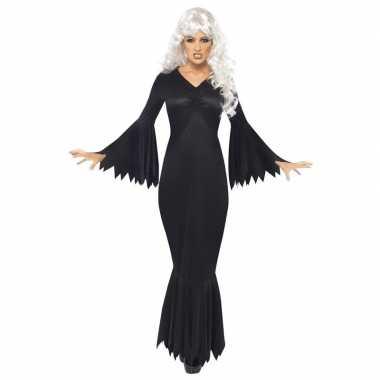 Zwarte horror vampier jurk voor dames