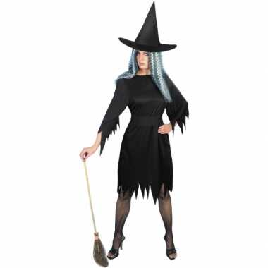 Zwarte korte heksenjurk